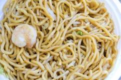 Garnalen Lo Mein stock foto's