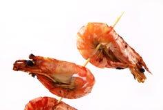 Garnalen, zeevruchtenachtergrond Stock Afbeeldingen