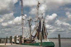 Garnalenboot royalty-vrije stock afbeelding