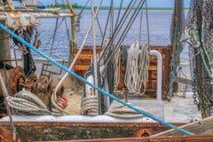 Garnalenboot royalty-vrije stock foto