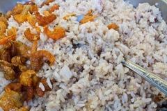 Garnalendeeg Fried Rice Royalty-vrije Stock Foto's