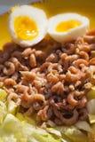 Garnalensalade met eieren Stock Foto's