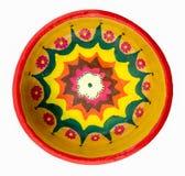 Garncarstwo malujący kolorowy handcrafted talerz Fotografia Royalty Free