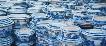 garnek ceramiczne sterty fotografia stock
