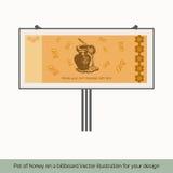 Garnek miód na billboardzie ilustracji