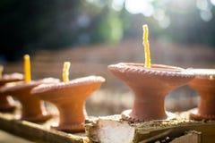 Garnek świeczka Zdjęcia Stock