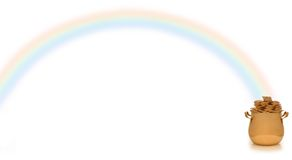 garnek złota rainbow Obraz Stock