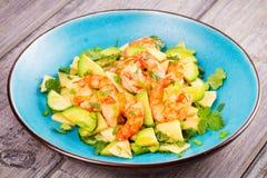 Garnela, Avocado i Apple sałatka, Zdjęcie Stock