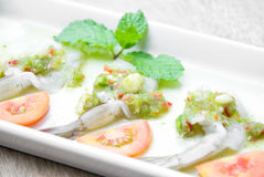 Garnela w rybim kumberlandzie, Tajlandzki jedzenie robić świeża garnela i korzenny, Obraz Royalty Free