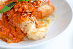 Garnele in der Chili-Sauce, Thailand Lizenzfreie Stockfotografie