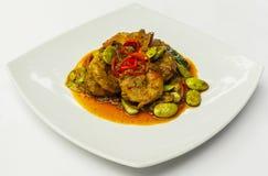Garnele im würzigen Curry Stockbild