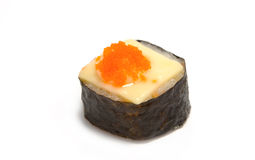 Garnele eggs mit Käsesushi, japanische Nahrung Lizenzfreie Stockfotografie