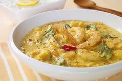 Garnele-Garnele-Curry-indische Nahrungsmittelmahlzeit-Küche lizenzfreie stockfotografie
