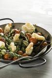 Garnele i asparagus smażący Zdjęcie Stock