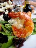 Garnele im griechischen Salat Stockfotografie