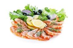 Garnele-Salat Lizenzfreies Stockbild