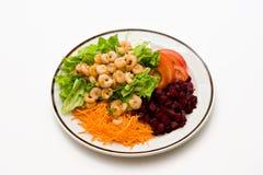 Garnele-Salat Lizenzfreies Stockfoto
