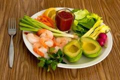 Garnele und Avocado Lizenzfreie Stockfotos