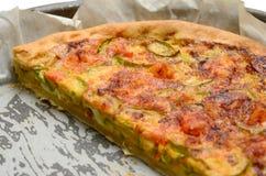 Garnele- und Zucchinikuchen Lizenzfreies Stockfoto