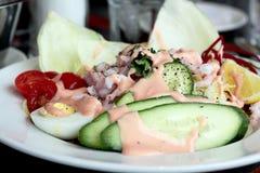 Garnelelouis-Salat Stockbild