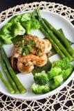 Garnelen-Scampi mit Gemüse Lizenzfreie Stockbilder