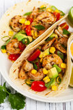 Garnelen-Taco-Salsa Stockfoto
