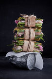 Garnelenpastesoße Burger Lizenzfreies Stockbild