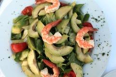 Garnelensalat mit Avocado Lizenzfreies Stockfoto