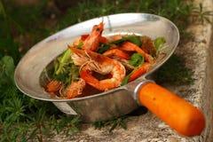 Garnelensuppennudeln - Asien-Lebensmittel Lizenzfreies Stockfoto