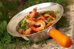 Garnelensuppennudeln - Asien-Lebensmittel Lizenzfreie Stockfotos