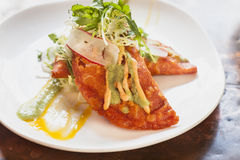 Garneli i kraba empanadas obrazy stock