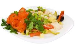 garneli mięśni sałatkowi warzywa zdjęcia royalty free