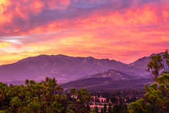 Garner Valley Sunset fotos de stock