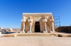 Garnering Abou Simbel i Kartbok Korporation studior Ouarzazate Arkivbilder