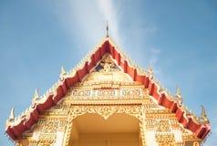 Garnering av den thailändska templet i Pattani, Thailand Arkivfoto