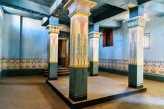 Garnering av det egyptiska huset i Kartbok Korporation studior Ouarzazate Royaltyfri Foto