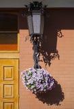Garnering av ingången. Arkivfoto