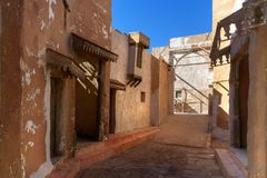 Garnering av Medina i Kartbok Korporation studior Ouarzazate Royaltyfri Foto