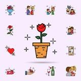 garnering blomma, v?xt, symbol r stock illustrationer