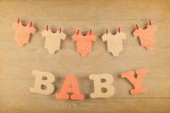 Garnering för baby shower Arkivbild