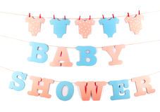 Garnering för baby shower Royaltyfria Bilder