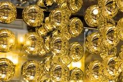 Garnering för bakgrund för metallbollar abstrakt Arkivfoto
