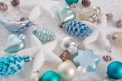 Garnering för för brunt och vita jul för blått, för turkos, Royaltyfria Bilder