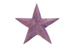 Garnering för fem isolerad pekad stjärnajul Arkivfoto