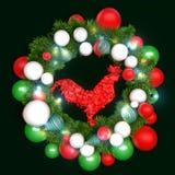 Garnering för glad jul och för lyckligt nytt år Royaltyfri Foto