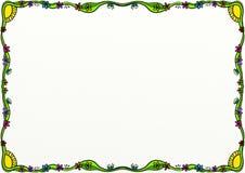 Garnering för gräns för vårklottersida stock illustrationer