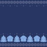 Garnering för jul och för lyckligt nytt år stock illustrationer