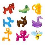 Garnering för leksaker för vektorballongdjur för ungar festar vektor illustrationer