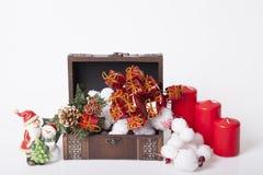 Garnering för nya år och jul Arkivfoto