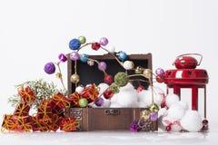 Garnering för nya år och jul Royaltyfria Foton